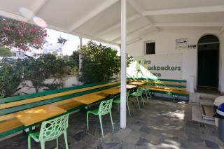 facilities santorini backpackers outdoor tables